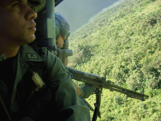 Panama's Border Police on aerial surveillance along the Colombian border.